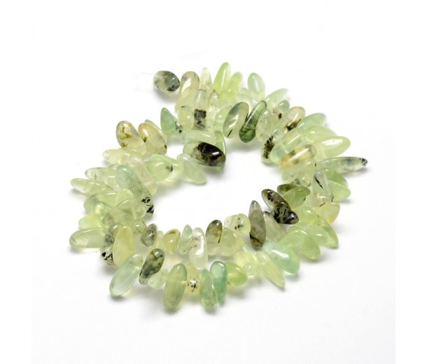 Prehnite Stick Beads, 8-30mm