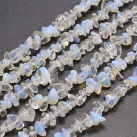 Sea Opal Glass Beads, Medium Chip