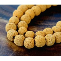 Lava Rock Beads, Buttercup Yellow, 10mm Round