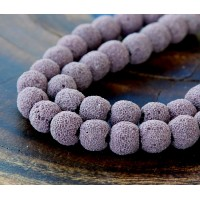 Lava Rock Beads, Mauve, 10mm Round