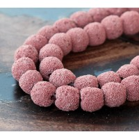 Lava Rock Beads, Old Rose, 10mm Round
