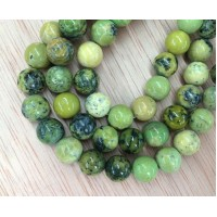 Yellow Turquoise Beads, 8mm Round