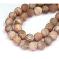 Matte Sunstone Beads, 10mm Round