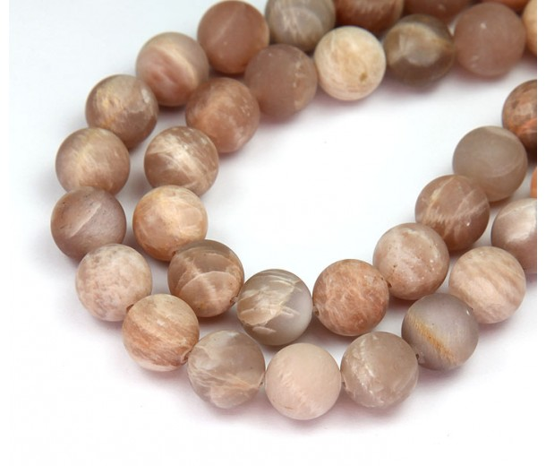 Matte Sunstone Beads, Natural, 10mm Round