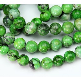 Chrysotine Beads, Bright Green, 8mm Round