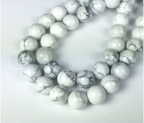 Howlite Beads, Natural White, 10mm Round