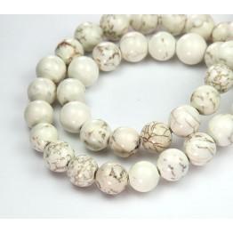 Magnesite Beads, Natural, 10mm Round