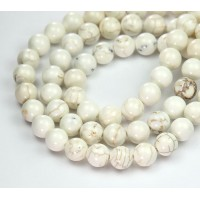 Magnesite Beads, Natural, 8mm Round