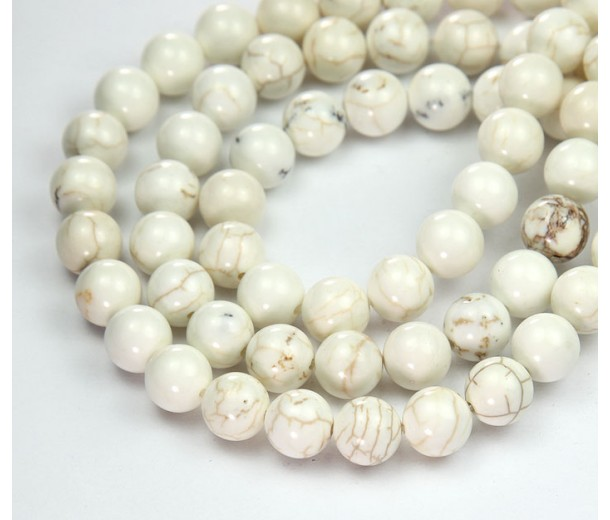 Magnesite Beads, Natural, 6mm Round