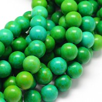 Magnesite Beads, Apple Green, 12mm Round