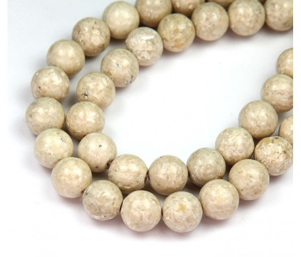 River Stone Jasper Beads, Natural, 10mm Round