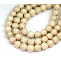 River Stone Jasper Beads, Natural, 8mm Round