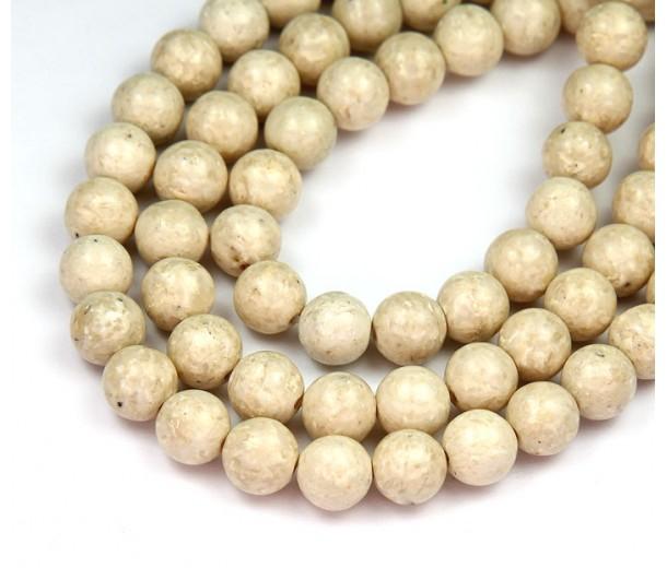 River Stone Jasper Beads, Natural, 8mm Round