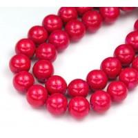 River Stone Jasper Beads, Fuchsia Pink, 10mm Round