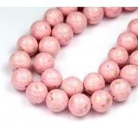 River Stone Jasper Beads, Pastel Pink, 10mm Round