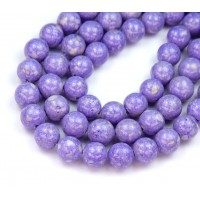 River Stone Jasper Beads, Lavender Purple, 8mm Round