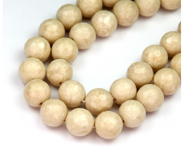 River Stone Jasper Beads, Natural, 10mm Faceted Round
