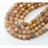Sunstone Beads, 6mm Round