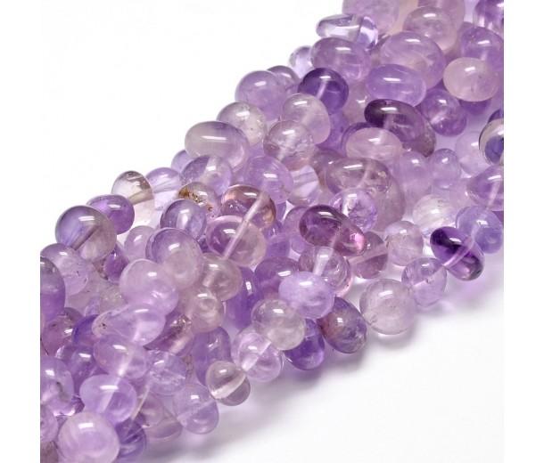 Amethyst Beads, Light Purple, Medium Nugget