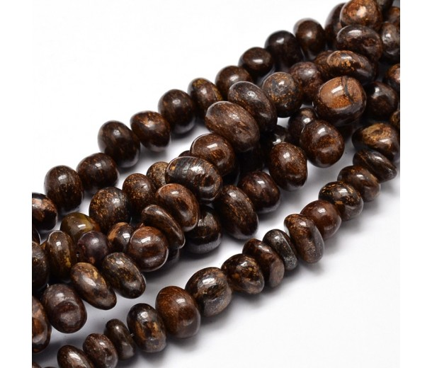 Bronzite Beads, Brown, Medium Nugget