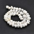 Howlite Beads, Natural, White, Medium Nugget