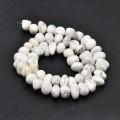 Howlite Beads, Natural, White, Medium Nugget