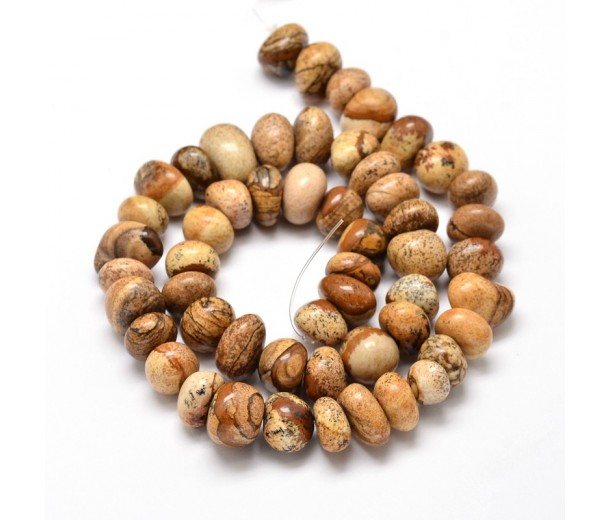 Picture Jasper Beads, Medium Nugget