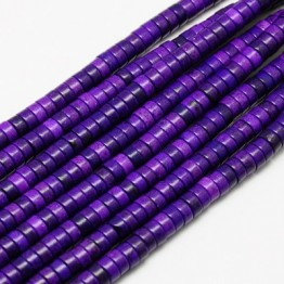 Imitation Turquoise Beads, Purple, 8x3mm Heishi Disk