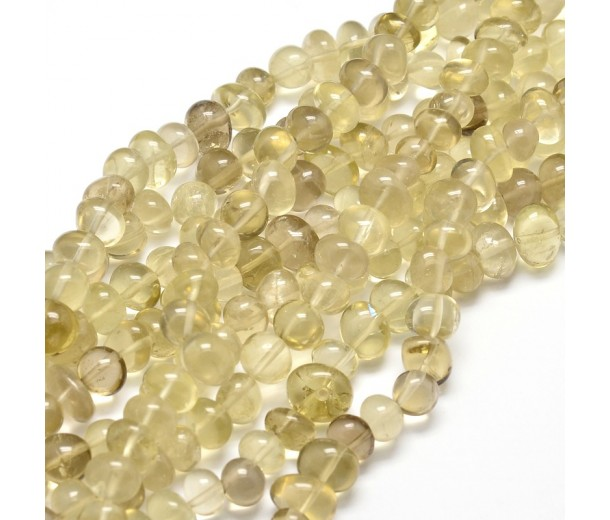 Lemon Quartz Beads, Medium Nugget