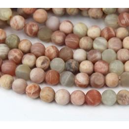 Matte Sunstone Beads, 8mm Round