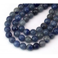 Blue Aventurine Beads, Natural, 8mm Faceted Round