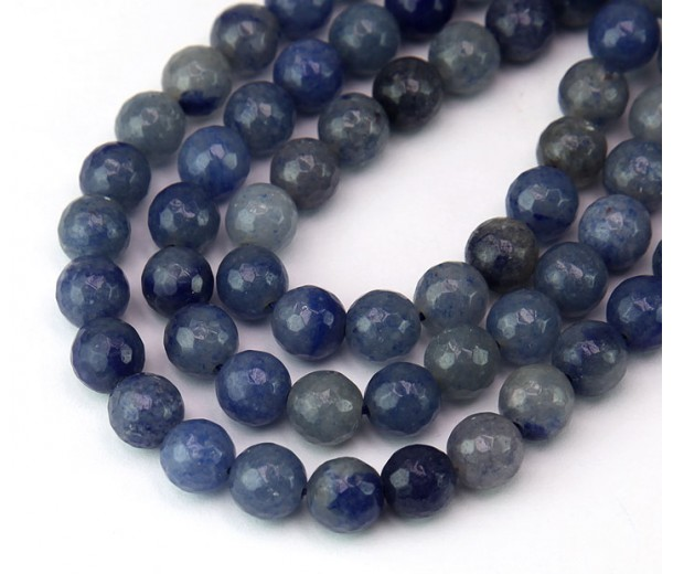 Blue Aventurine Beads, Natural, 10mm Faceted Round