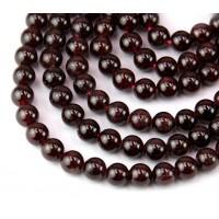 Garnet Beads, 8mm Round