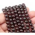 Garnet Beads, 9mm Round