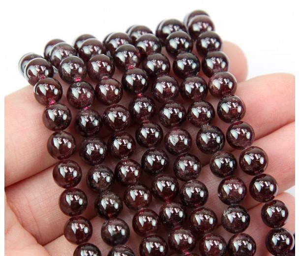 Garnet Beads, 6mm Round