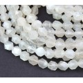 Moonstone Beads, Natural, White, 6-7mm Faceted Nugget