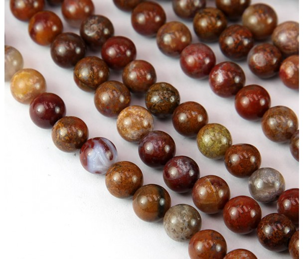 Pietersite Beads, Red, 8mm Round