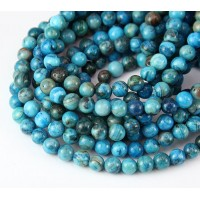 Crazy Lace Agate Beads, Blue, 6mm Round