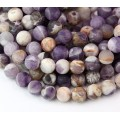 Matte Sage Amethyst Beads, Natural, 10mm Round