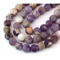 Matte Sage Amethyst Beads, Natural, 8mm Round