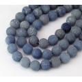 Matte Blue Aventurine Beads, 10mm Round