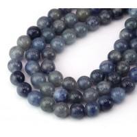 Blue Aventurine Beads, Natural, 8mm Round