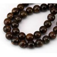 Bronzite Beads, 10mm Round