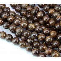 Bronzite Beads, 8mm Round