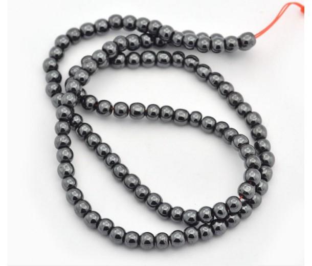 Hematite Beads, Non-Magnetic, 6mm Round
