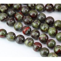 Dragon Stone Beads, 8mm Round