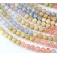 Morganite Beads, 6mm Round