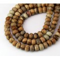 Picture Jasper Beads, 5x8mm Smooth Rondelle
