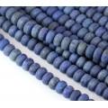 Matte Lapis Lazuli Beads, 5x8mm Smooth Rondelle