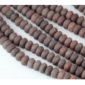 Purple Aventurine Beads, Natural, 5x8mm Smooth Rondelle